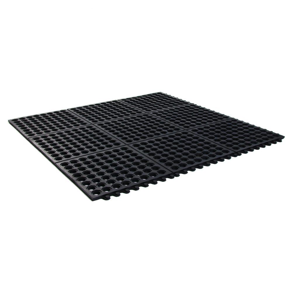 Hollow Rubber Mesh Mats Black Soft Floor UK - Rubber grate flooring