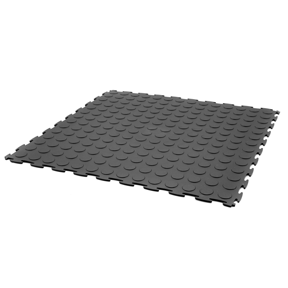 COINFLEX™ PVC Utility Floor Tiles 50cm (Black) - Soft Floor UK