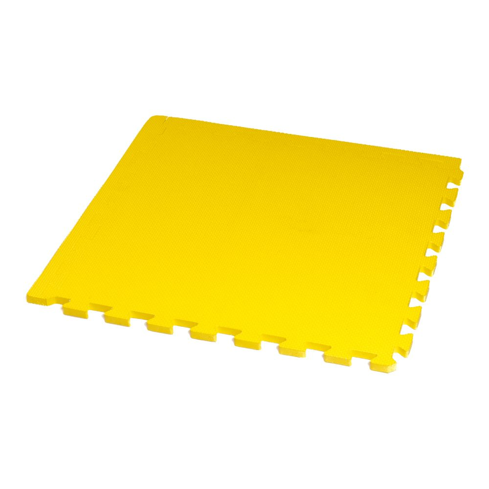Classic 50cm Eva Foam Mat Yellow Soft Floor Uk