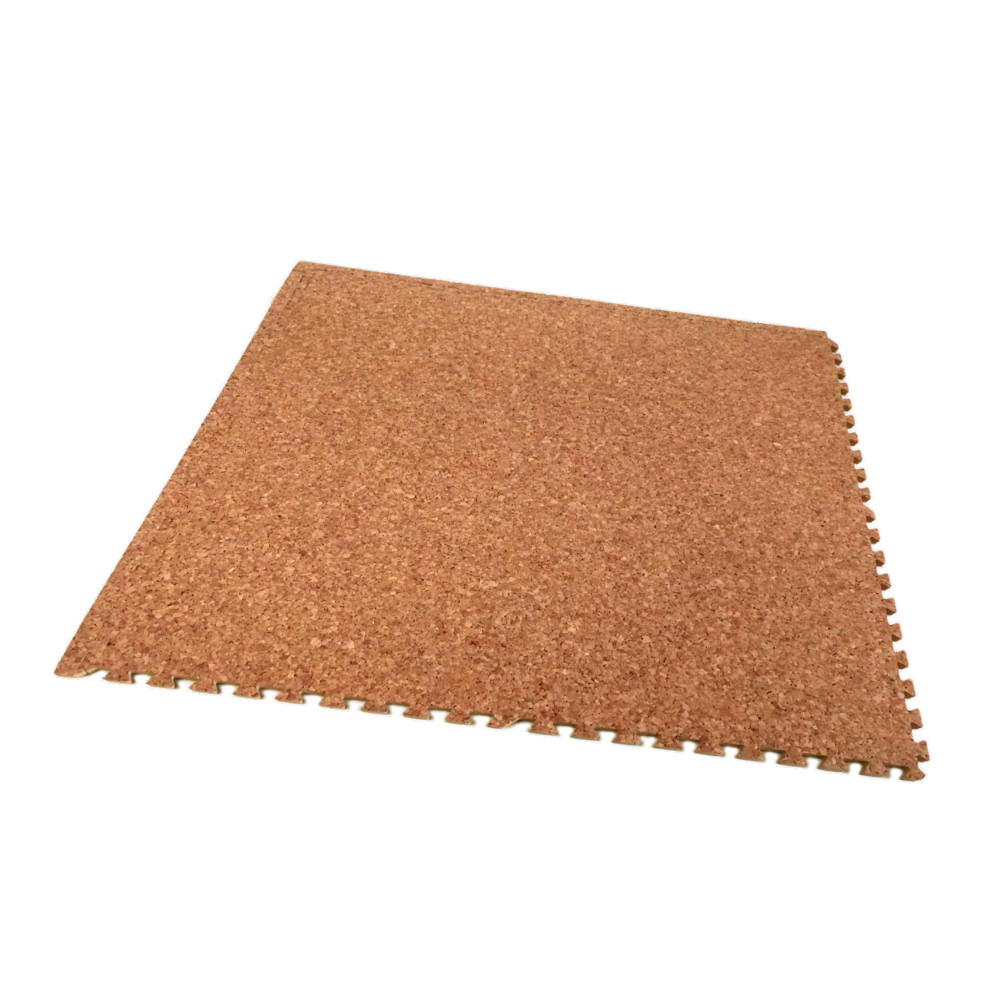 Natural Cork 60cm Interlocking Floor Tile Soft Floor Uk