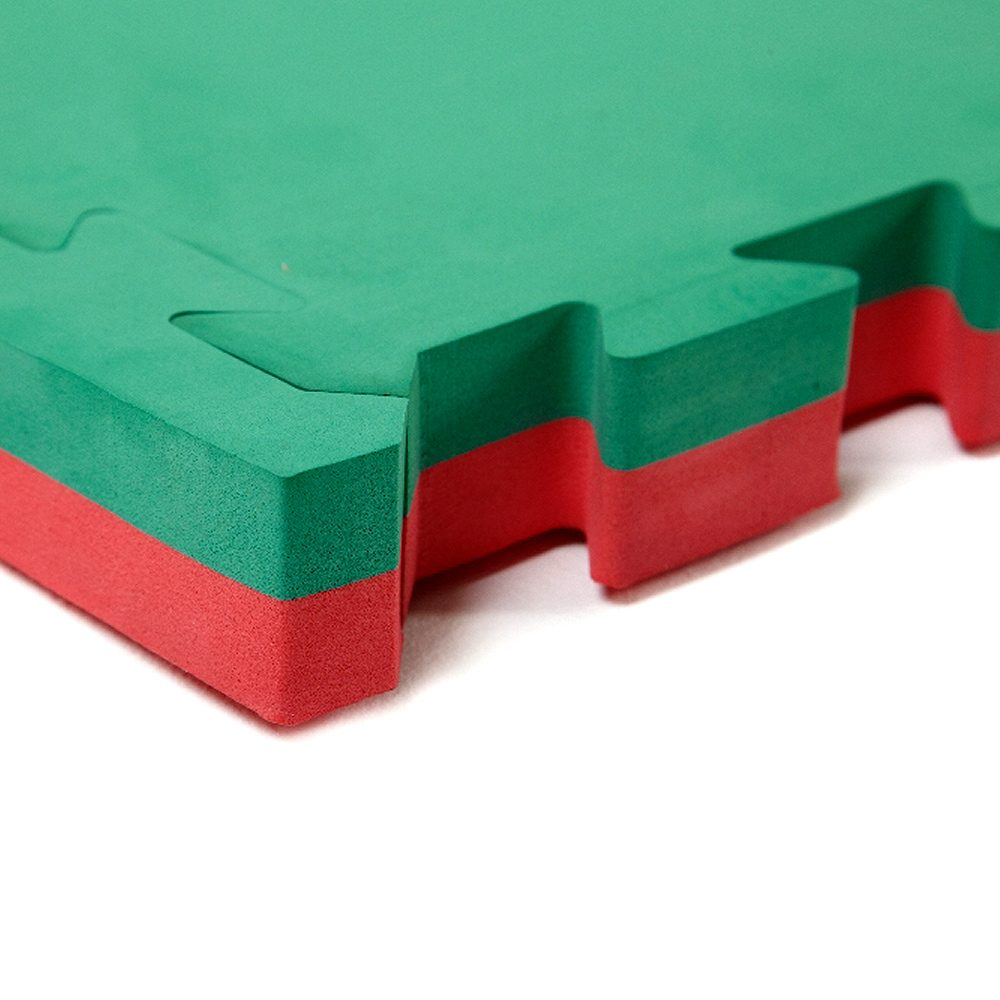 Large Interlocking Gym Mats 40mm Red Green Soft Floor Uk