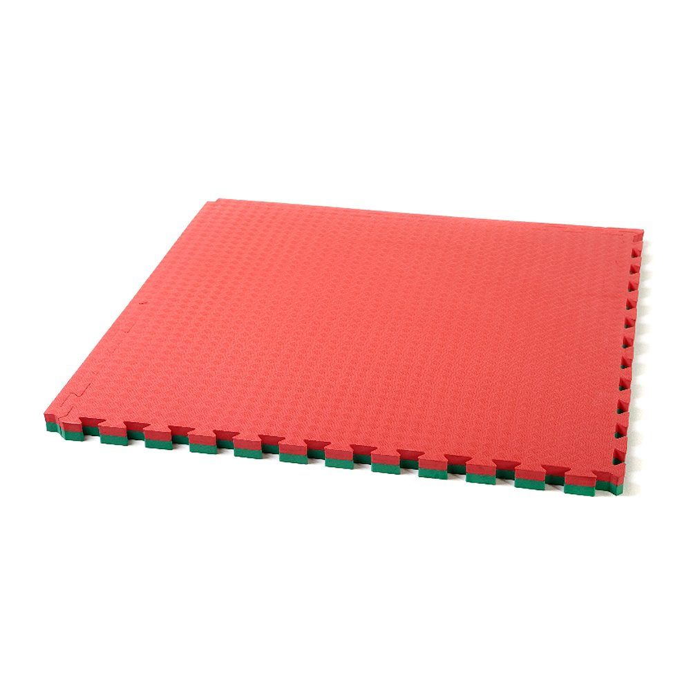 Large Interlocking Gym Mats 40mm (Red Green)